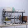 Kép 2/4 - Edényszárító mosogató fölé dupla tálcás