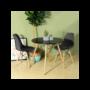 Kép 3/4 - 4 db modern étkezőszék asztallal - fekete