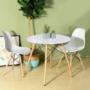 Kép 2/4 - 4 db modern étkezőszék asztallal - fehér