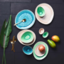Kép 7/7 - DE LA ROYA tányér 19,7x16,5cm kék