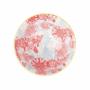 Kép 5/6 - ORNAMENTS tálka kék mintás/ piros virágok 520ml