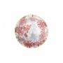 Kép 3/6 - ORNAMENTS tálka kék mintás/ piros virágok 240ml