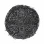 Kép 2/3 - RAFFIA alátét rojtokkal 41cm fekete