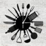 Kép 2/6 - Bakelit óra - Konyhai eszközök