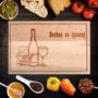 Kép 2/6 - Egyedi vágódeszka borban az igazság - nyeles