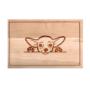 Kép 4/6 - Chihuahua egyedi vágódeszka - nagy