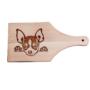Kép 5/6 - Pekingi Chihuahua egyedi vágódeszka - nyeles