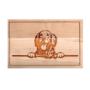 Kép 1/6 - Golden Retriever vágódeszka - kicsi