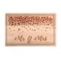Kép 2/6 - Mr. és Mrs. szívecskés vágódeszka - kicsi