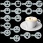 Kép 2/7 - Cappuccino és kávé díszítő Emoji sablonok (16db)