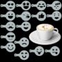 Kép 5/7 - Cappuccino és kávé díszítő Emoji sablonok (16db)
